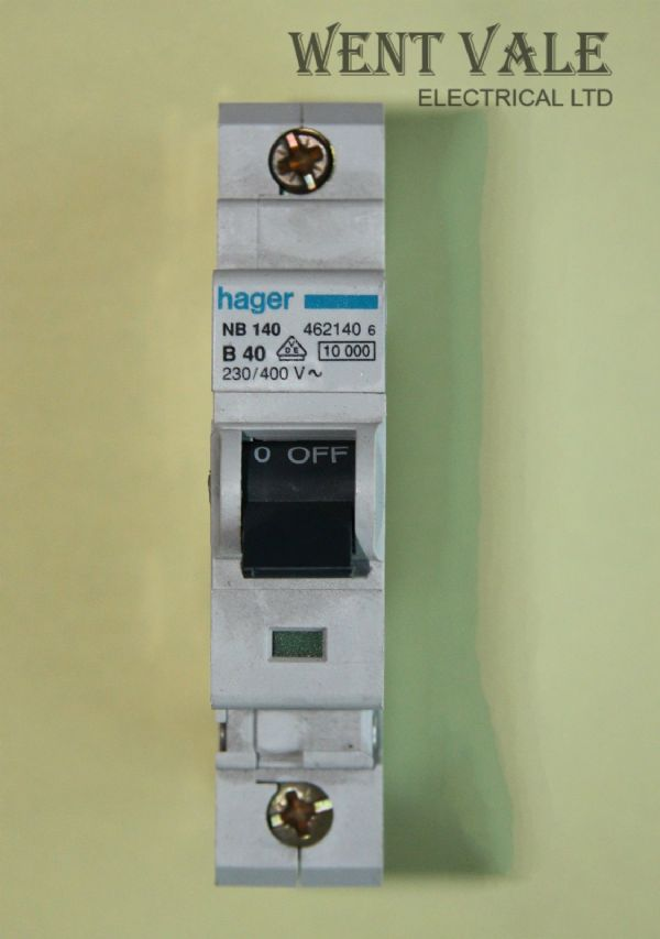 Hager - NB140 - 40a Type B Single Pole MCB Used